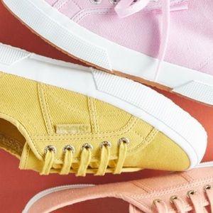 NWT Anthropologie Superga yellow Sneakers-9.5